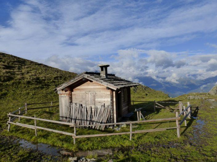Von der Marcheralm auf dem Weg zum Bergerkogel befindet sich die Eichamhütte